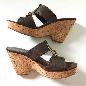 Nine West • Leather Wedge Heels